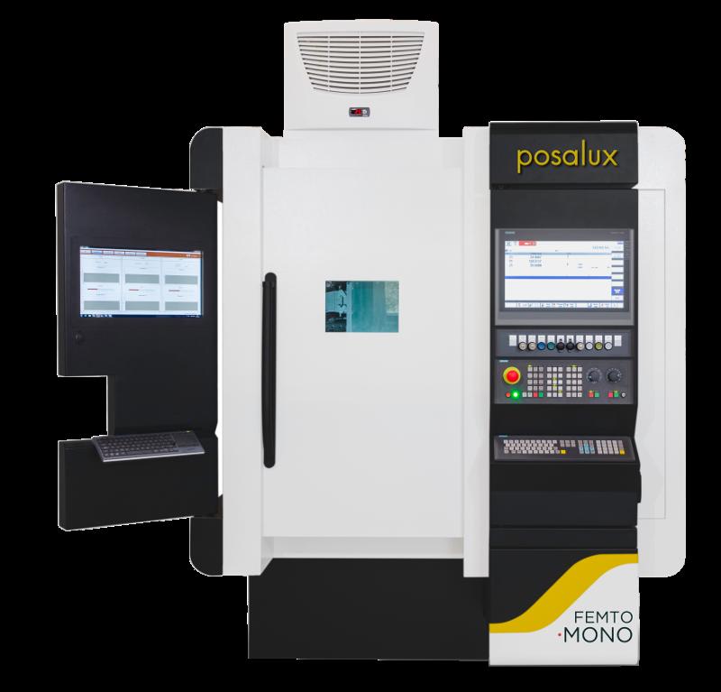 Front view of the Posalux FEMTO Laser Mono XY machine