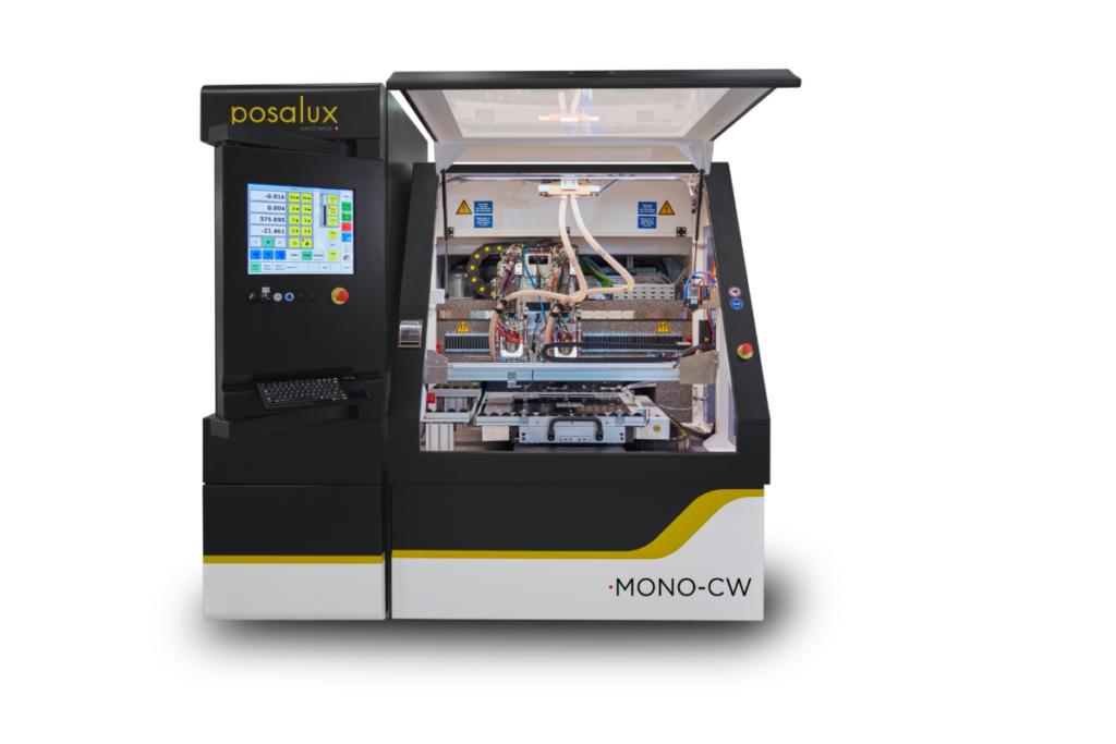 Front view with door open of the Posalux ULTRASPEED Mono-CW machine