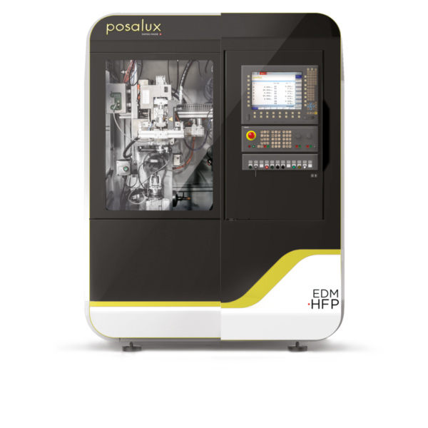 Front view of the EDM HPF machine