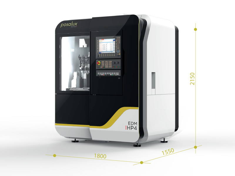Size of the EDM HP4 machine