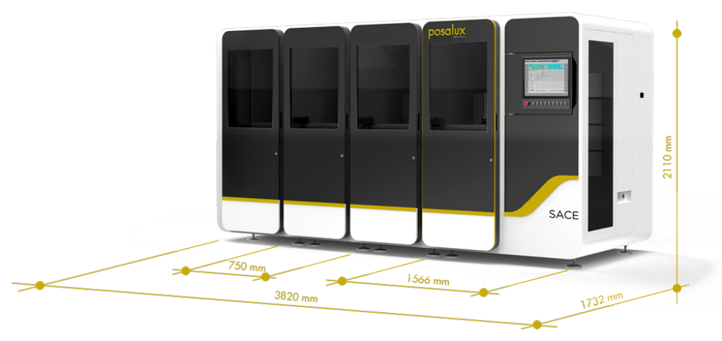 SACE machine Posalux size