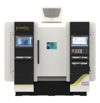 FEMTO TWIN machine Posalux front view