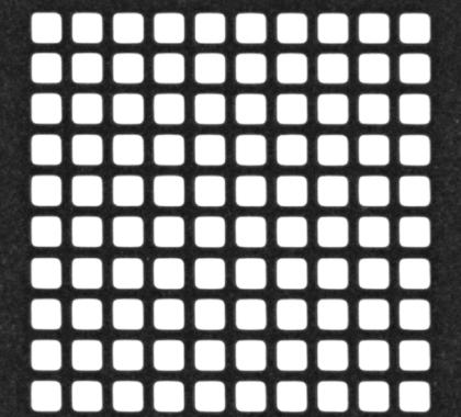 Femto Laser machining micro squares